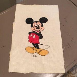 Disney Mickey Cross Stitch Piece